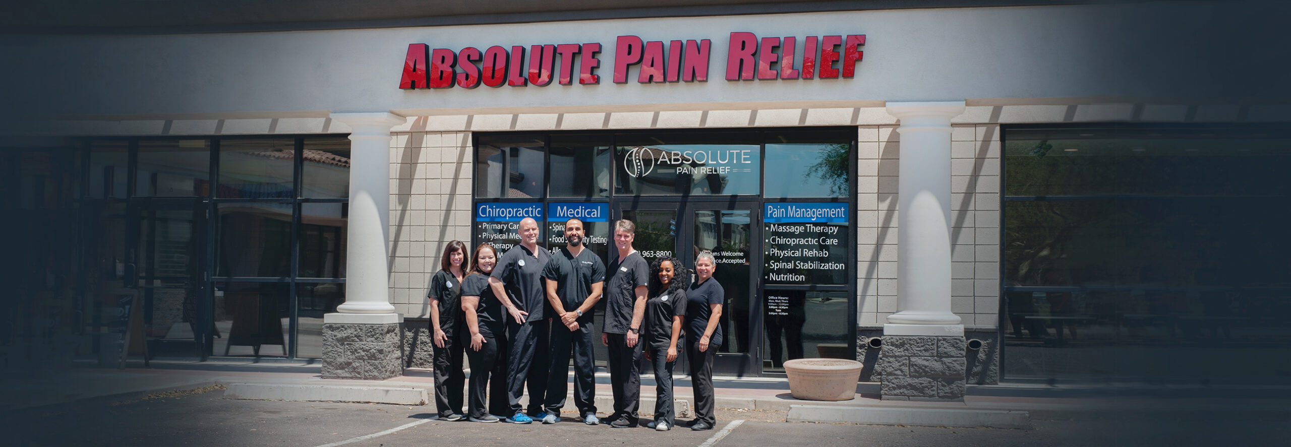 Integrated healthcare and chiropractor treatment team