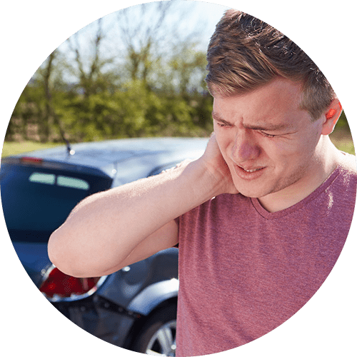 Neck injury from an auto accident