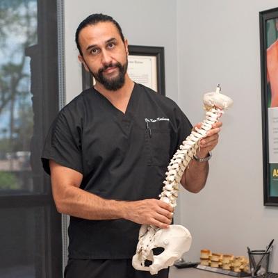 chiropractic adjustment of vertebrae