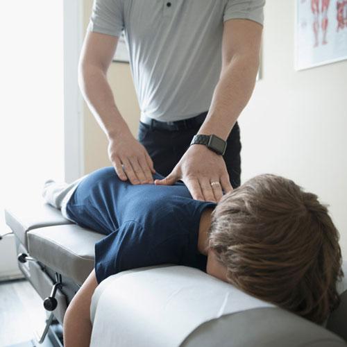 Professional chiropractor treatment